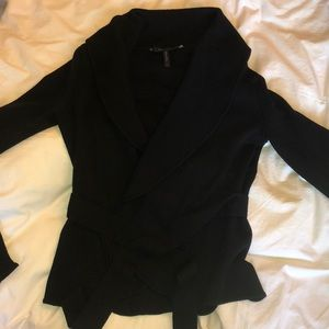 BCBG maxazria Slim fitting tie cardigan